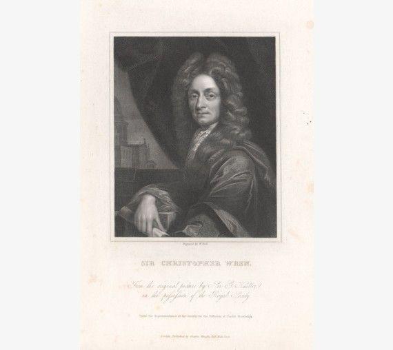 christopher wren portrait engraving