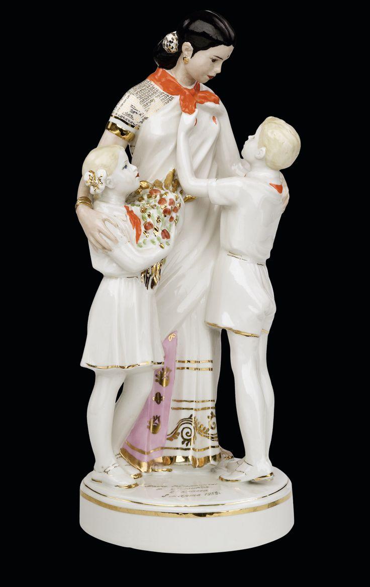 Быструшкин Бронислав Дмитриевич «Красный фарфорист» Встреча Индиры Ганди с пионерами 1953