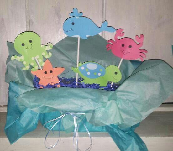 ocean theme centerpieces baby shower pinterest