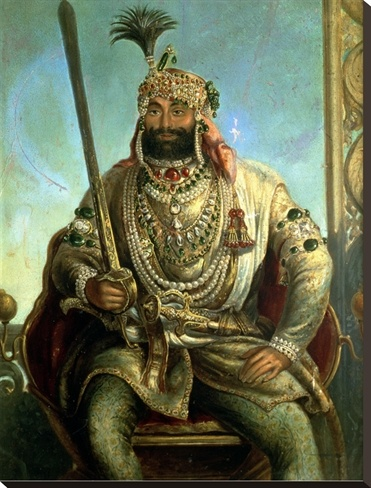 Maharaja Sher Singh by August Theodor Schoefft