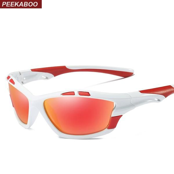 #DealOfTheDay #FASHION #NEW Peekaboo high quality sunglasses men polarized mirror with box red black white driving sun glasses for men…