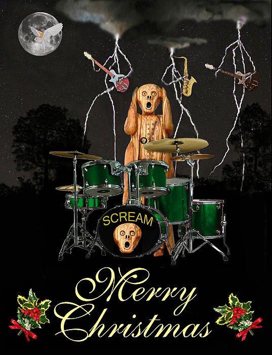 Scream Rock - Customised Christmas Cards Fine Art America
