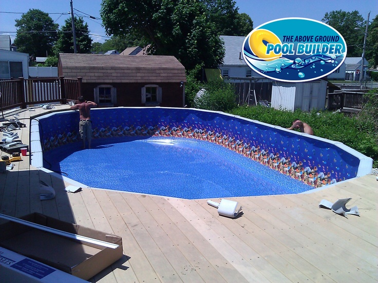 30 best above ground pool liners images on pinterest above ground swimming pools ground pools for Swimming pool liners for above ground pools