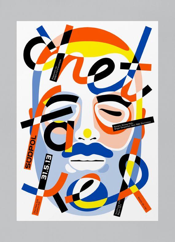 Le designer graphique Felix Pfäffli aka Feixen réalise depuis 2011 cette série d'affiche pour le compte de Suedpol, un centre culturel polyvalent à Kriens, en Suisse, près de Lucerne, qui abrite un...
