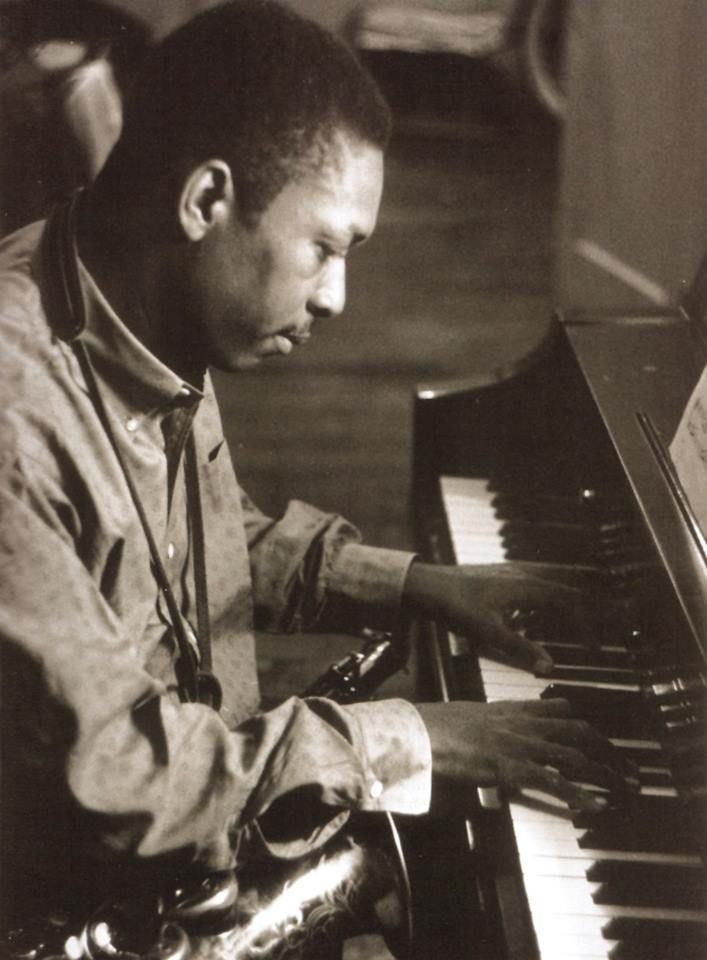 John Coltrane playing piano. My fav of his will always be C Jam Blues.