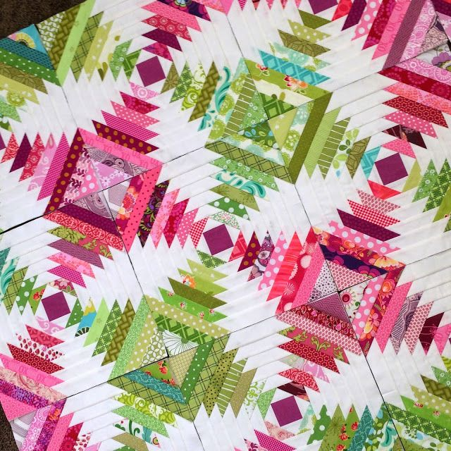 "I just realized that I never showed you my Pineapple quilt!  It's probably my most favorite ""make"" to date and (if I'm allowed to say this)..."