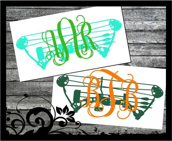 Personalized Compound Bow Monogram  Circle by BubbaAndDoodle2