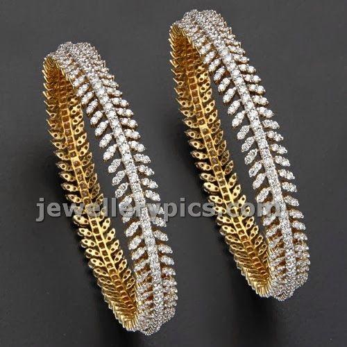 Mangatrai Diamond Bangle designs - Latest Jewellery Designs