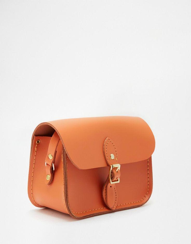 Изображение 2 из Миниатюрная оранжевая сумочка из натуральной кожи The Cambridge Satchel Company