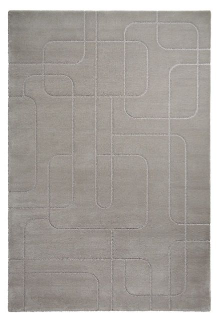 A top shot of 'Maestro Metro - Silver' by Limited Edition. Maestro is made out of wool and silk. | www.le.be | Collection 2015 #bespoke #rugs #carpets #madeinbelgium #grey #soft #tufted