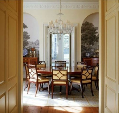 Thefoodogatemyhomework Gorgeous Symmetry By Architect Ken Tate In This Nashville TN Home Round Dining Room
