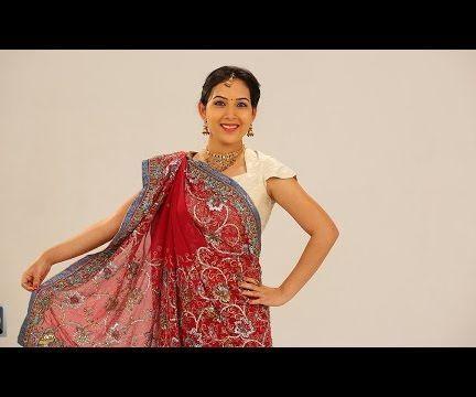 How To Wear Gujarati Style Saree Step By Step Perfectly - Gujarati Saree Draping Styles
