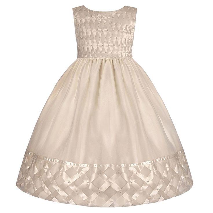 Awesome Sleeveless Satin Dress with Basket Hem x Dresses KIDS Burlington