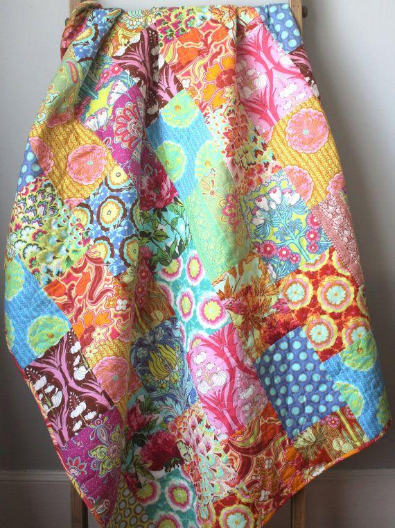 Modern Lap Quilt Amy Butler Soul Blossoms Quilt Modern Throw