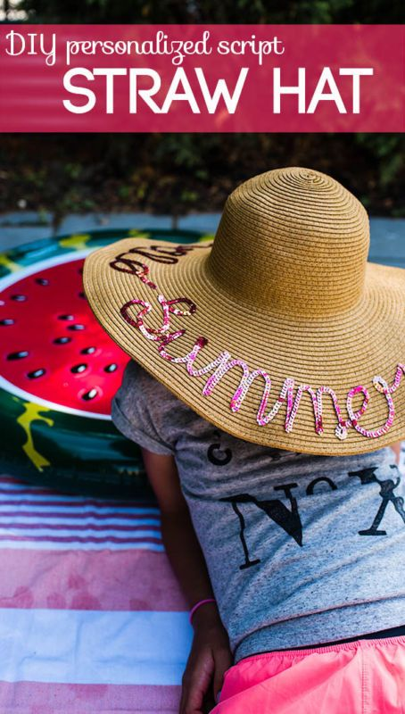 DIY Personalized Straw Hat Room For More Hats Diy Hat Diy Straw