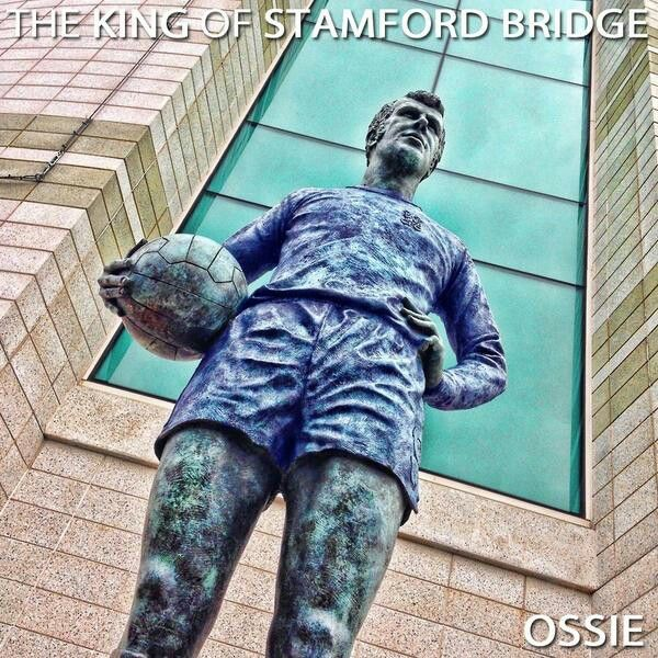 The PETER OSGOOD statue at Stamford Bridge...