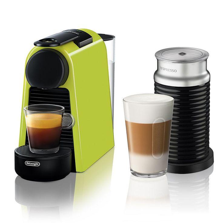 Nespresso Essenza Mini Espresso Machine with Aeroccino3, Red ...