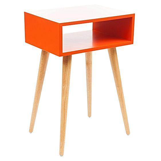 Marni Gloss Orange Bedside Table by Zanui