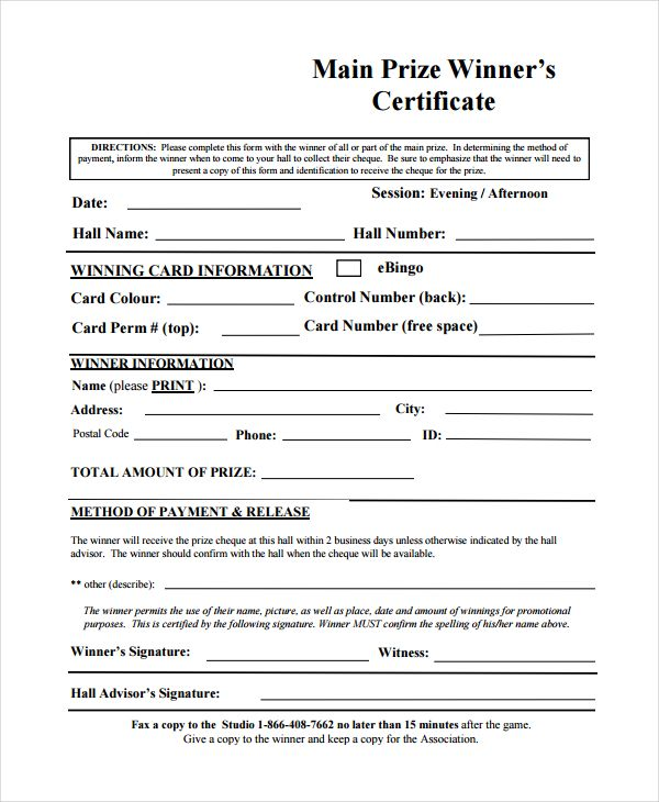 10 Winner Certificate Templates Certificate Templates Awards