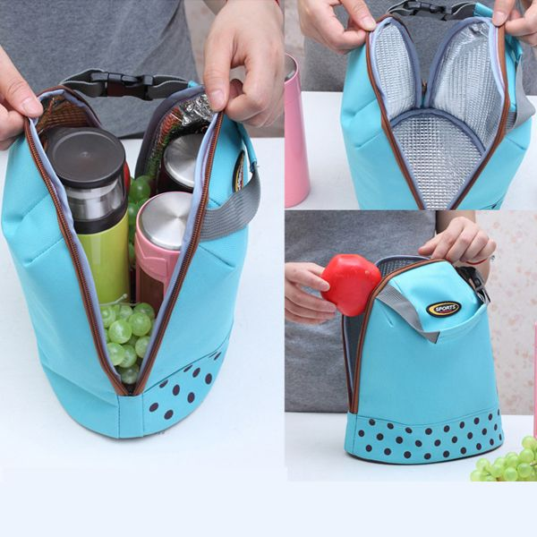 Protable Ice Bags Oxford Hand Carry Thickened Cooler Bags 4 Colors Lunch Bag Food Thermal Organizer Bag