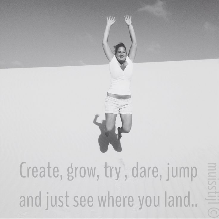 Quote: just jump, picture and edit by @muisstijl / Anneke Leibbrand