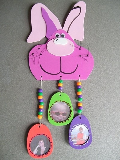 10 best easter grandparents gifts images on pinterest craft kids foam easter bunny with photo frame eggs negle