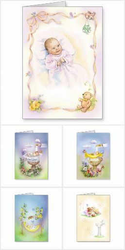 Baptism greeting cards