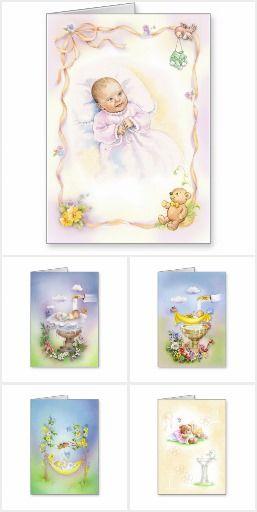 Baptism greeting cards