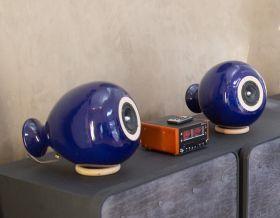 """Coppia di diffusori acustici """"no compromise"""" in ceramica, dalla tecnologia Point Source che consente di avere ottima qualità anche con dimensioni contenute. #madeinitaly #artigianato #diffusori #speakers"""