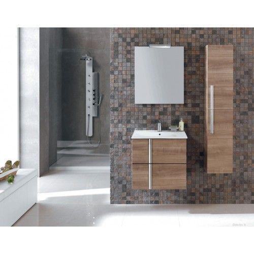 Bathroom unit Avila 60cm 2 door Walnut