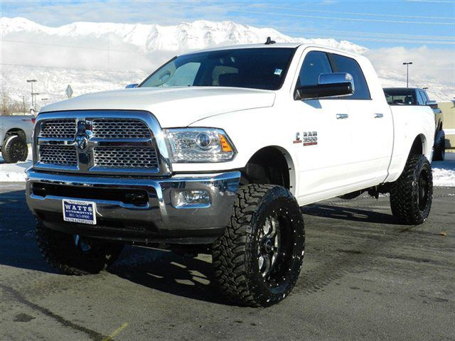 ram megacab cummins diesel with a 6 inch lift in any color but white - White Dodge Ram Cummins Lifted