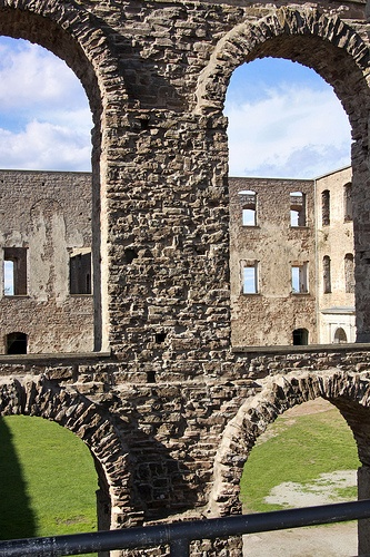 """Borgholm slott - a castle ruin on the Swedish island Öland. You can see it in Roxette's video of """"Listen to your heart""""."""