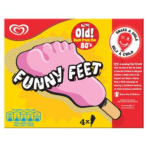 Funny Feet ice cream – flashback to the 80s…lol, The big toe had a big bubblegum in it.
