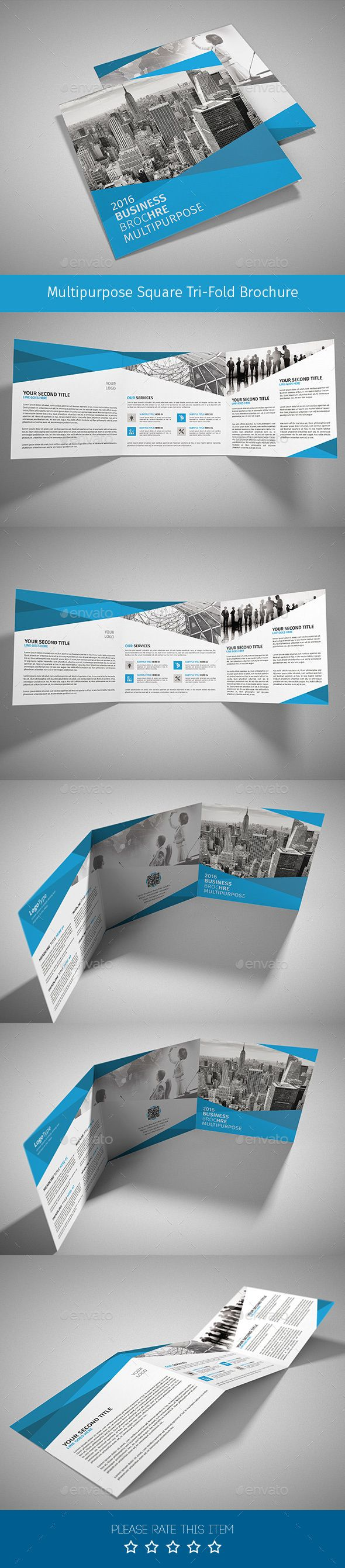 Corporate Tri-fold Square Brochure Template PSD #design Download: http://graphicriver.net/item/corporate-trifold-square-brochure-01/14008771?ref=ksioks