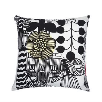 Give your sofa a new style with Lintukoto cushion cover from Finnish Marimekko. Lintukoto is designed by Maija Louekari and has a lovely illustration with large-scale magical plants that meanders over the cushion cover. A charming interior detail that is easy to mix and match with other home textiles from Marimekko.