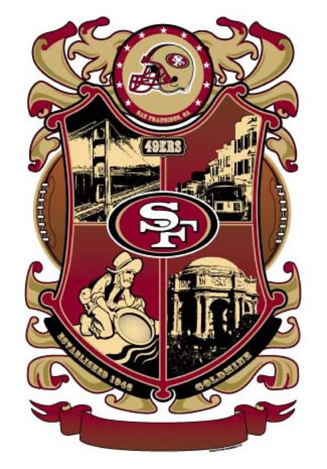 49er Nation SF Niners San Francisco 49ERS Niners for Life! Coat of Arms
