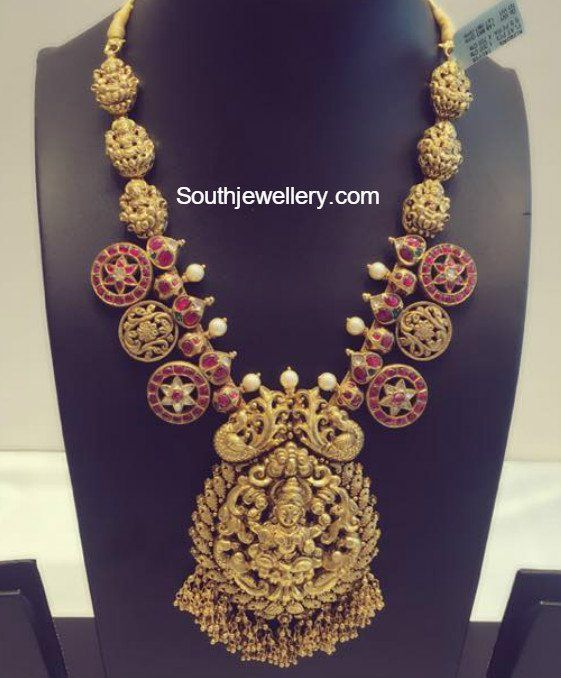 Antique Gold Lakshmi Necklace