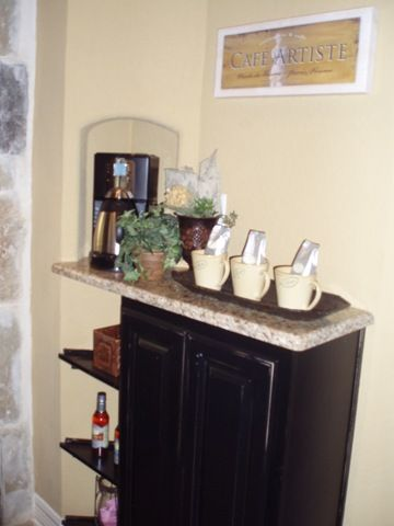 Coffee Bar With Granite Countertop. Must Have In Master Bedroom!