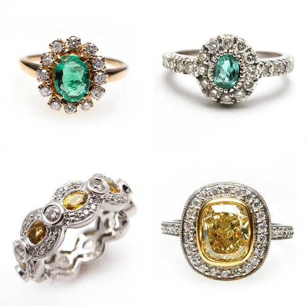 Vintage Engagement Rings by Weston Jewelry i love the canary diamond