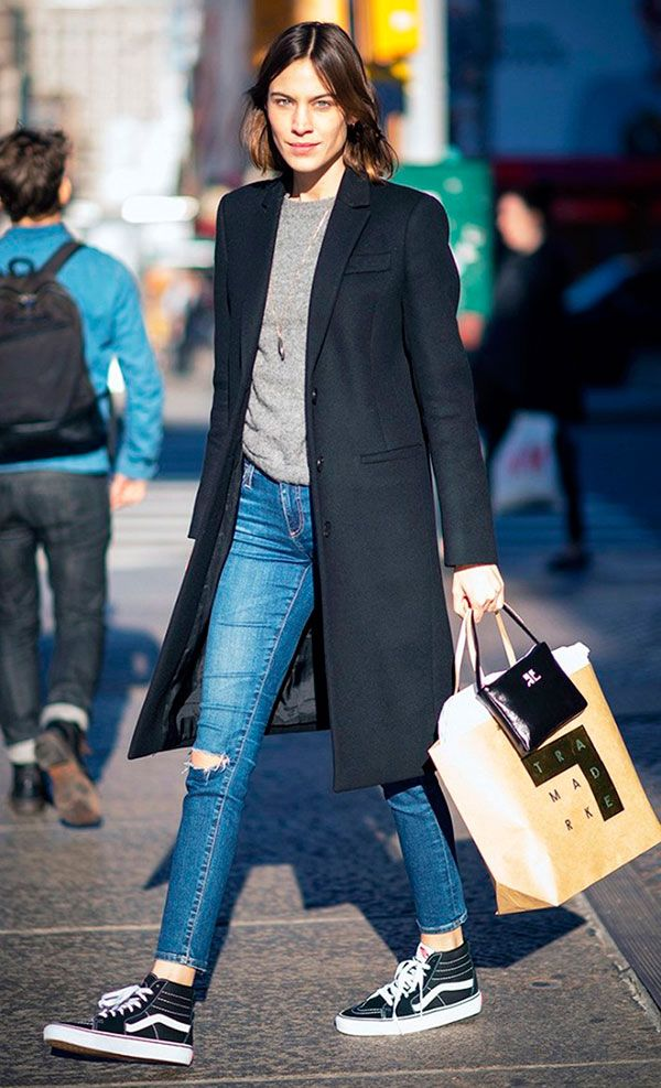 Alexa Chung Tênis e Jeans