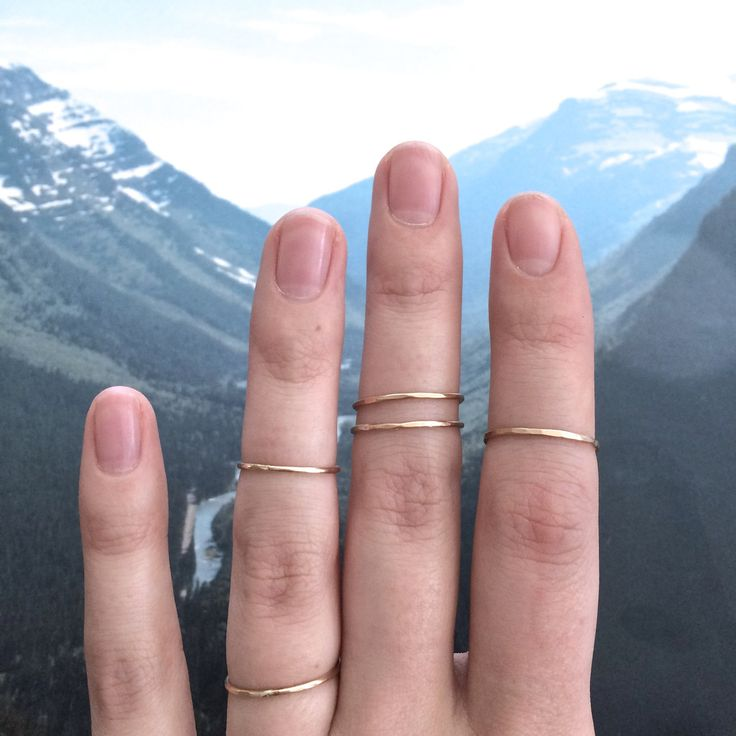 Basic 14k Gold Stacking Ring