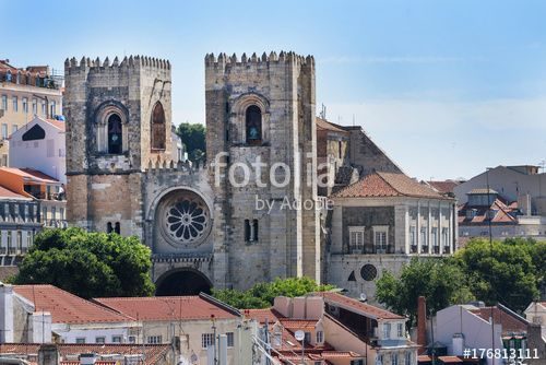 "Download the royalty-free photo ""Lisbon Cathedral"" created by stillforstyle at the lowest price on Fotolia.com. Browse our cheap image bank online to find the perfect stock photo for your marketing projects!"