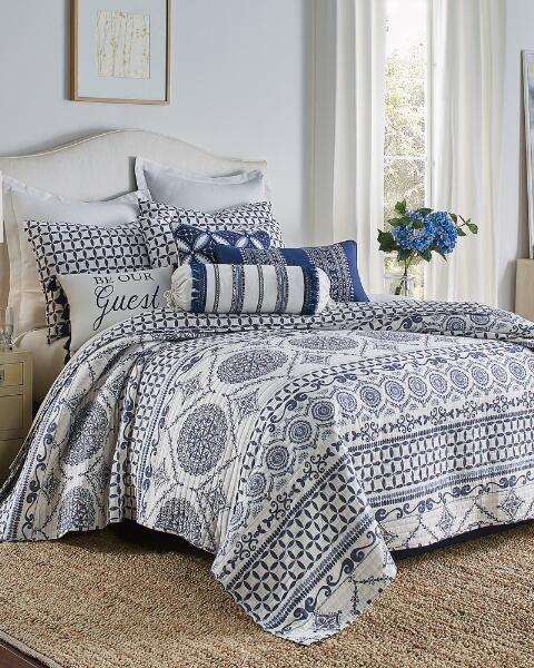 Navy Linen Blend Euro Sham in 2019   master bedroom   Quilt bedding ...