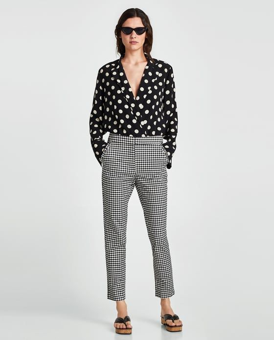 ZARA - WOMAN - CHECKED TROUSERS WITH RUFFLES