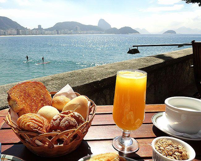 Café da manhã no forte de Copacabana