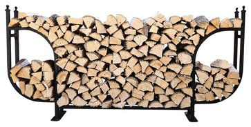 1/2 Cord Woodhaven Courtyard Large Firewood Rack - Traditional ...