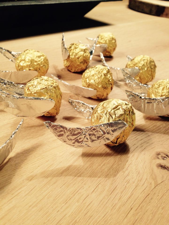 Ferrero Rocher Golden Snitches - Gouden Snaai. Harry Potter Party