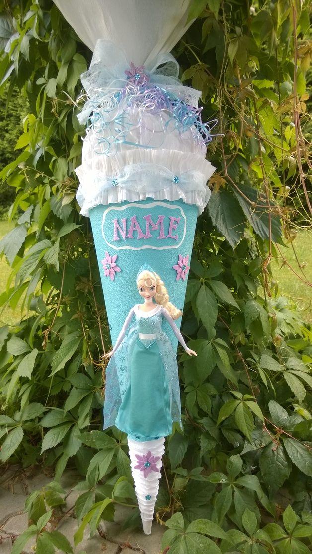 """Schultüten - Schultüte Zuckertüte """"Elsa"""" Eiskönigin - ein Designerstück von Schultueten bei DaWanda"""