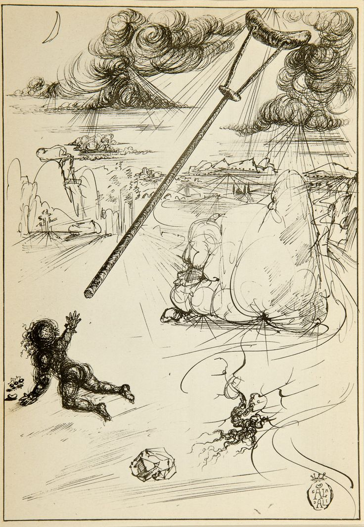 Salvador Dali, The Crutches of Uncle Celestin (1944) [From Fantastic Memories by Maurice Sandoz Illustrated by Salvador Dali] #drawing #art #artmarket #limitededition #artistoftheday #fineart #buyart #dali #illustration #surrealism   http://limitededition.pl/klasycy/the-crutches-of-uncle-celestin.html