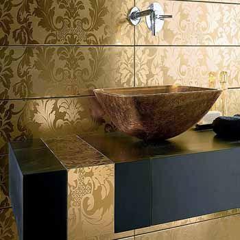 gold-leaves-tile-designs-modern-bathroom-design